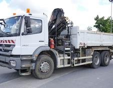 Mercedes-Benz Axor 2633 , 6x4  , E5 , 2-side tipper , Crane Hiab 122