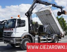 Mercedes-Benz Axor 1833 , E5 , boardmatic , 3-side tipper , Crane Hiab 122